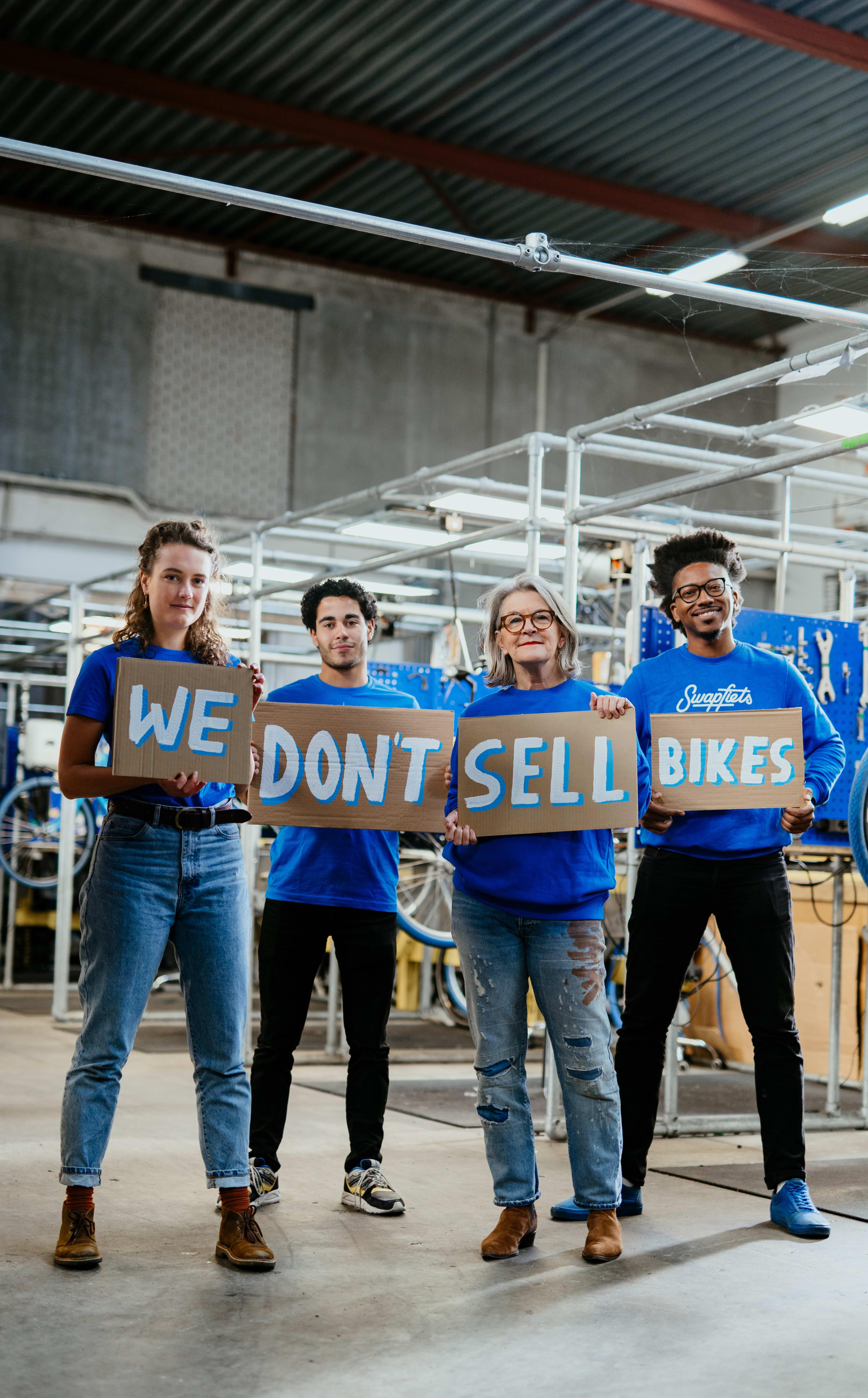 Kampagnefoto – Vi sælger ikke cykler